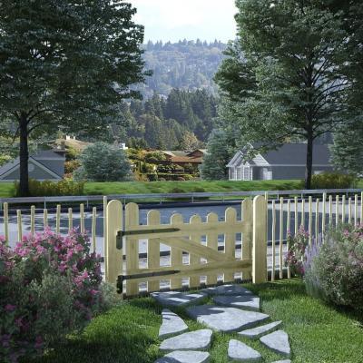 Emaga vidaxl furtka ogrodowa, impregnowane drewno sosnowe, 100 x 60 cm