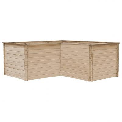 Emaga vidaxl podwyższona donica ogrodowa, 197x197x80 cm, lite drewno sosnowe