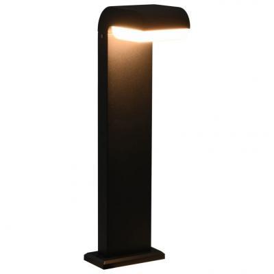 Emaga vidaxl lampa ogrodowa led, 9 w, czarna, owalna