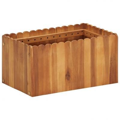 Emaga vidaxl podwyższona donica ogrodowa, 50x30x25 cm, lite drewno akacjowe