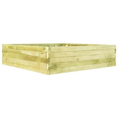 Emaga vidaxl skrzynia ogrodowa, impregnowane drewno sosnowe, 100 cm