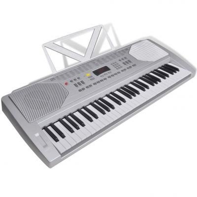 Emaga keyboard elektryczny ze stojakiem na nuty