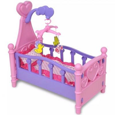 Emaga łóżeczko dla lalek, różowo-fioletowe