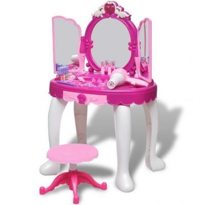 Emaga toaletka dziecięca z 3 lustrami oraz światłem i dźwiękiem