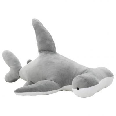 Emaga vidaxl pluszowy rekin młot przytulanka, szary