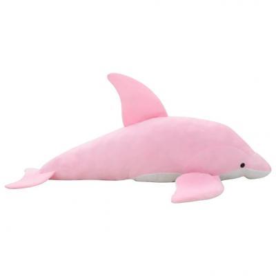 Emaga vidaxl pluszowy delfin przytulanka, różowy