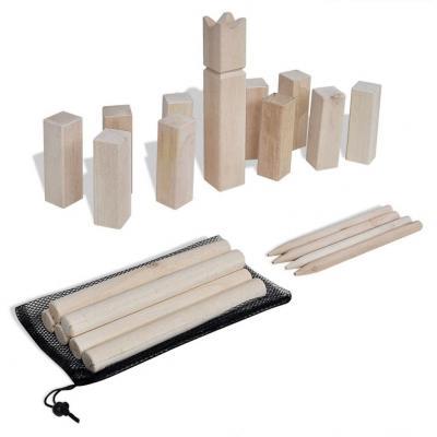 Emaga vidaxl zestaw do gry w kubb, drewno