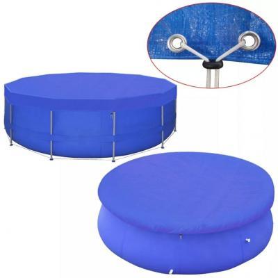 Emaga vidaxl plandeka na basen, okrągła, pe, 460 cm, 90 g/m²