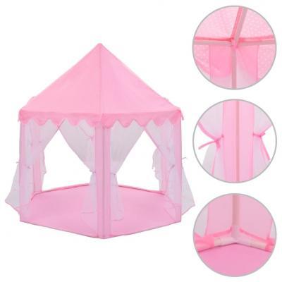 Emaga vidaxl namiot do zabawy, dla księżniczki, różowy
