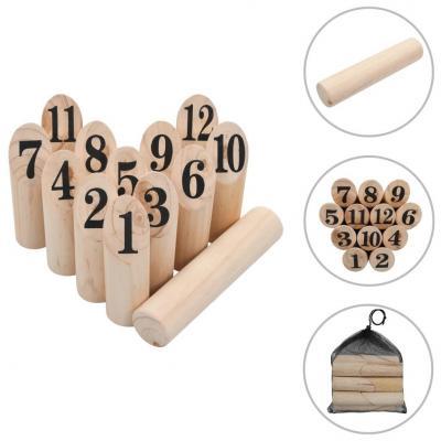 Emaga vidaxl gra plenerowa kubb numeryczny, wykonana z drewna