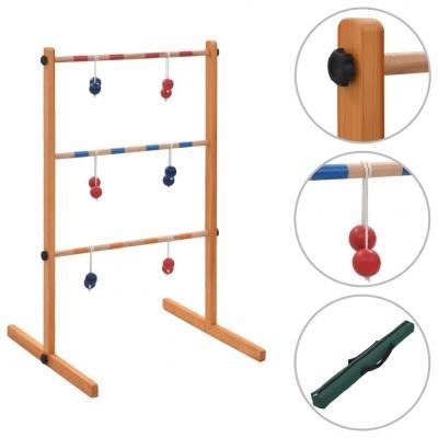 Emaga vidaxl gra plenerowa spin ladder, wykonana z drewna