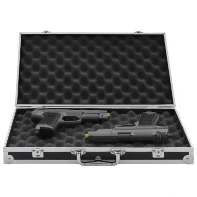 Emaga vidaxl futerał na broń, aluminium, abs, czarny