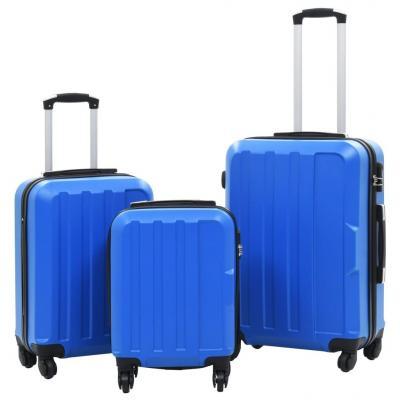Emaga vidaxl zestaw twardych walizek, 3 szt., niebieskie, abs