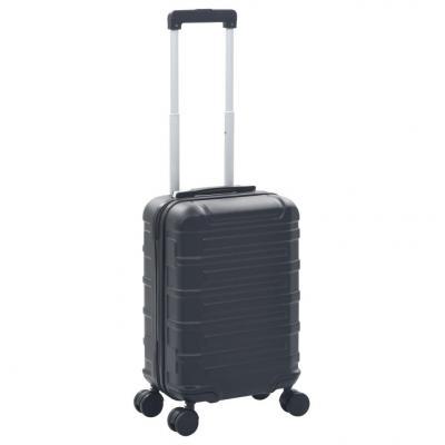 Emaga vidaxl twarda walizka, czarna, abs