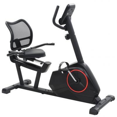 Emaga vidaxl poziomy rower treningowy z pomiarem tętna