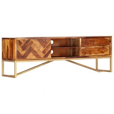 Emaga vidaxl szafka pod tv, 140x30x45 cm, lite drewno sheesham