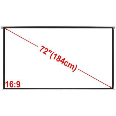 Emaga ekran projekcyjny na ścianę 160 x 90 cm, matowy, biały 16:9