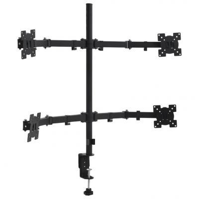 """Emaga vidaxl 4-ramienny stojak na monitory na biurko, 13""""-27"""""""