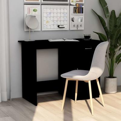 Emaga vidaxl biurko, czarne, 100x50x76 cm, płyta wiórowa