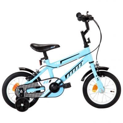 Emaga vidaxl rower dla dzieci, 12 cali, czarno-niebieski