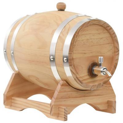 Emaga vidaxl beczka na wino z kranikiem, lite drewno sosnowe, 6 l