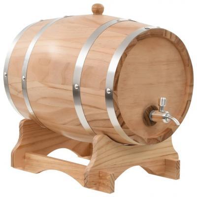 Emaga vidaxl beczka na wino z kranikiem, lite drewno sosnowe, 12 l