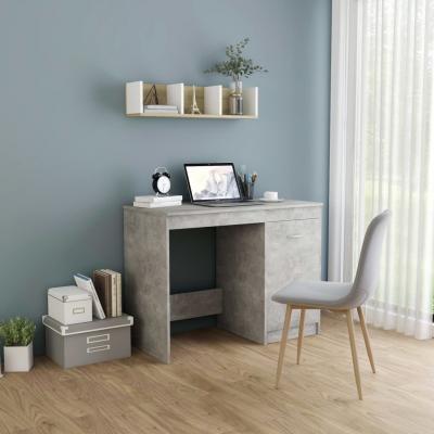 Emaga vidaxl biurko, szarość betonu, 100x50x76 cm, płyta wiórowa
