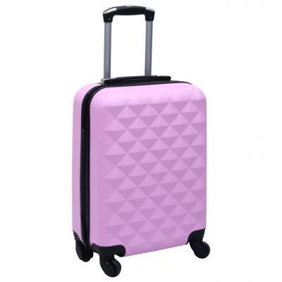 Emaga vidaxl twarda walizka na kółkach, różowa, abs