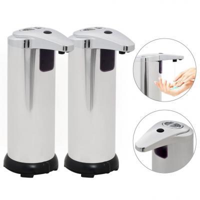 Emaga vidaxl automatyczne dozowniki mydła na podczerwień, 600 ml, 2 szt.