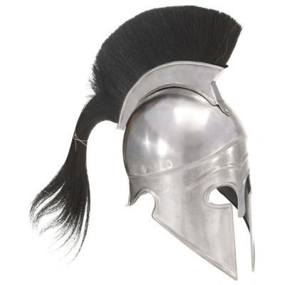 Emaga vidaxl replika zabytkowego hełmu greckiego żołnierza larp srebrna stal
