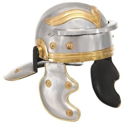 Emaga vidaxl replika zabytkowego hełmu rzymskiego, larp, srebrna stal