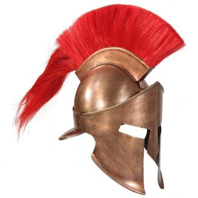 Emaga vidaxl replika zabytkowego hełmu greckiego, larp, stal miedziana