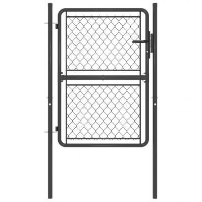 Emaga vidaxl furtka ogrodzeniowa, stalowa, 100 x 125 cm, antracytowa