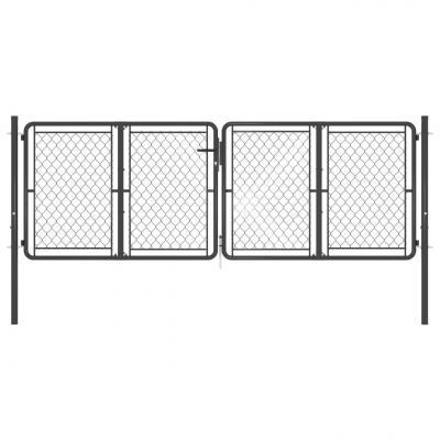 Emaga vidaxl brama ogrodzeniowa, stalowa, 300x100 cm, antracytowa
