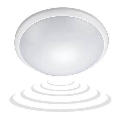 Emaga breva, plafon oświetleniowy z mikrofalowym czujnikiem ruchu, 60w, e27, ip44, poliwęglan mleczny