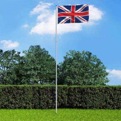 Emaga vidaxl flaga wielkiej brytanii z aluminiowym masztem, 6 m