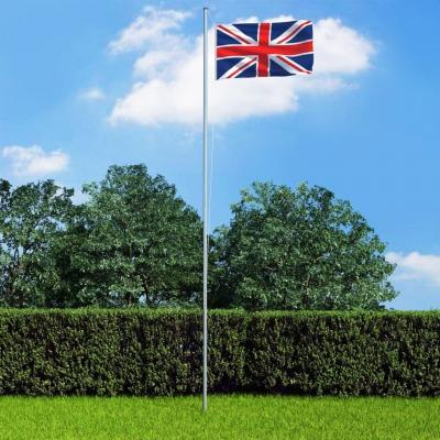 Emaga vidaxl flaga wielkiej brytanii z aluminiowym masztem, 6,2 m