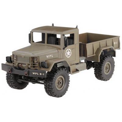 Emaga ciężarówka wojskowa wpl b-14 (1:16, 4x4, 2.4g, lipo) - żółty