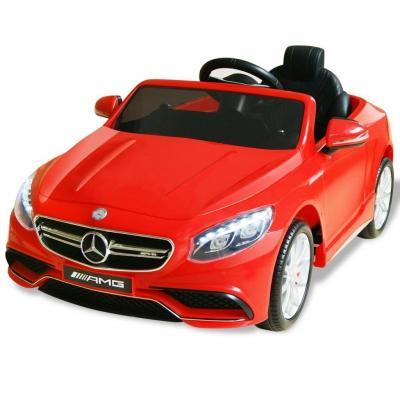 Emaga vidaxl samochód elektryczny dla dzieci, czerwony mercedes benz amg s63