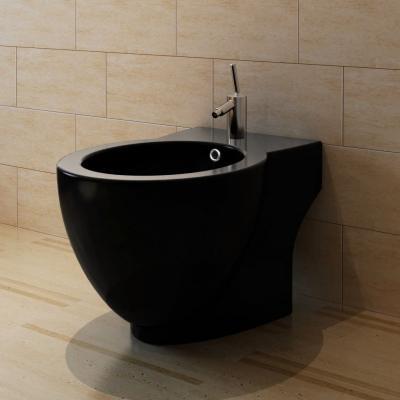 Emaga bidet okrągły stojący wysokiej jakości ceramika czarny
