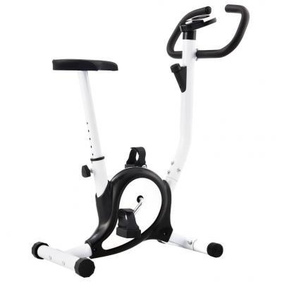 Emaga vidaxl rowerek do ćwiczeń z paskiem oporowym, czarny