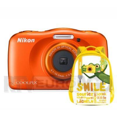Nikon COOLPIX W150 (pomarańczowy) + plecak