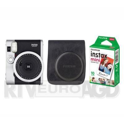 Fujifilm Instax Mini 90 + etui + wkład Instax mini 10 (czarny)