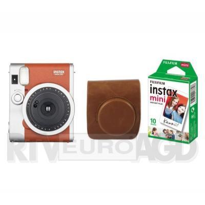 Fujifilm Instax Mini 90 + etui + wkład Instax mini 10 (brązowy)