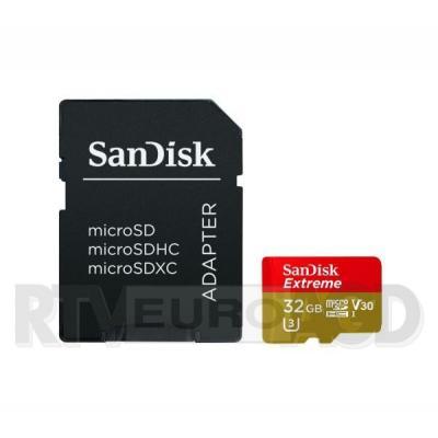 SanDisk Extreme microSDHC 32GB + adapter