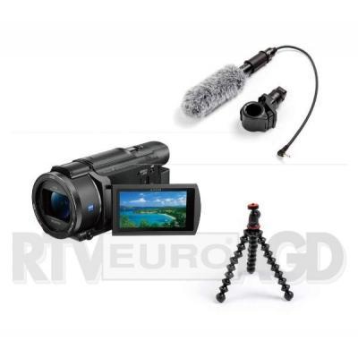 Sony FDR-AX53 + mikrofon + statyw