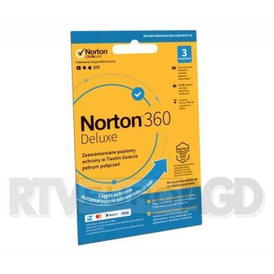 Norton Subskrypcja Norton 360 Deluxe 25GB (3 urządzenia / 1 rok)