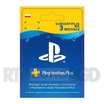 Sony Subskrypcja PlayStation Plus 3 m-ce [kod aktywacyjny]