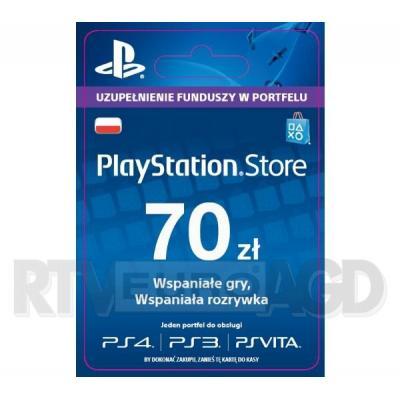 Sony PlayStation Network 70 zł [kod aktywacyjny]