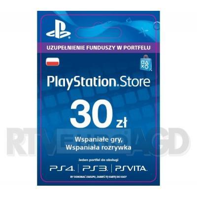Sony PlayStation Network 30 zł [kod aktywacyjny]